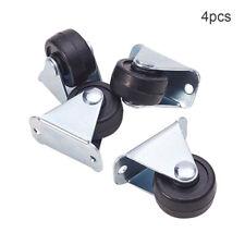 25mm Rubber Single Wheel Rigid Non-Swivel Top Plate Fixed Caster With Heavy Duty