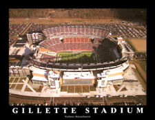 Gillette Stadium NEW ENGLAND PATRIOTS GAMEDAY Aerial View Poster Print