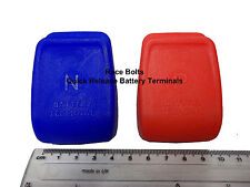 QUICK RELEASE POSITIVE & NEGATIVE BATTERY TERMINAL - CLAMPS (BLUE & RED)
