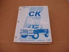1992 Chevrolet C/K pickup truck Silverado K1500 K2500 parts catalog book manual
