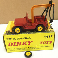 Dinky Toys 1412 - JEEP DE DEPANNAGE Potence Rouge/Jaune 1:43, Atlas 2576048