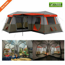 16 x 16' 3 Room Cabin Tent Outdoor Camping Festival Canopy 12 Person Shelter Set