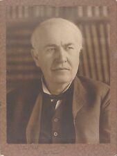 Historical Thomas A Edison Genius Inventor Signed 11x15 Large Photo Psa/Dna Rare