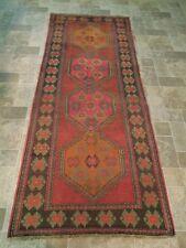 Brick Handmade Rug 4x9 Carpet Armenia Kazak Runner Oriental design Estate Rug