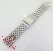 .Auth Omega Shark Mesh Steel 20mm Watch Bracelet 1380/237 - 020ST1380237