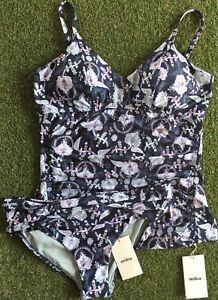 New Milea Pushkar Paisley Soft E Cup Singlet & Mid Rise Pant - Size AU16 / US12