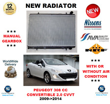 FOR PEUGEOT 308 CC CONVERTIBLE 2.0 CVVT 2009->2014 NEW RADIATOR ** OE QUALITY **