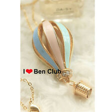 KRP Womens Colorful Fire Balloon Necklace Hot Air Balloon Pendant Chain