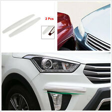 2pcs Car Bumper Protector White Front&Rear Anti-rub Corner Guard Scratch Sticker