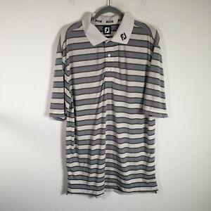 FootJoy FJ Mens poloshirt size XL multicolour striped short sleeve collared