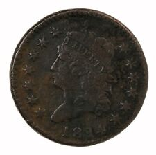 Raw 1814 Classic Head 1C Uncertified Circulated Us Mint Copper Large Cent Coin