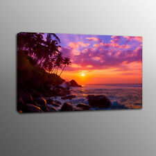 Canvas Prints Landscape Home Decor Wall Art Sunset Beach Painting Photo No Frame