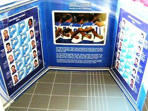 2009 NRL Canterbury Bankstown BULLDOGS Double Stamp Folder - Photo's, Stamps