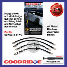 BMW 5 Series E39 4Dr + M5 96-03 Goodridge Zinc V.Black Brake Hoses SBW0044-4P-VB