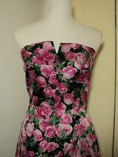 DIVINE  silk  vallen  bombshell dress NWT  big vintage roses print   rrp  $269