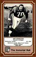 1975 Hall of Fame BROWN #25 Art Donovan HOF RARE Baltimore Colts  Boston College