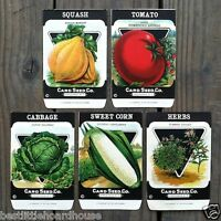 Vintage Original 5 VEGETABLE SEED PACKS CARD SEED CO (SET C) 1920's NOS Unused