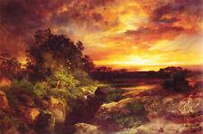 Oil painting Thomas Moran - An Arizona Sunset Near the Grand Canyon canvas