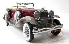 Franklin MINT 1930 Duesenberg J Cabriolet Rosso Vinaccia/Grigio Marrone scale 1:24