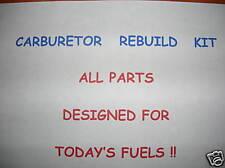 Edelbrock Carburetor Carb Rebuild Kit OFF-ROAD Gaskets Todays Fuels 3-480