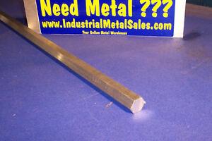 "5/8"" x 24""-Long 6061 T6 Aluminum Hexagon Bar -->.625"" 6061 T6 Aluminum Hex"