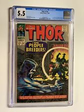 Thor 134 cgc 5.5 cr/ow pages marvel silver age 1966
