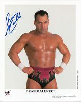 DEAN MALENKO SIGNED WWF WWE PROMO PHOTO WRESTLING 8x10