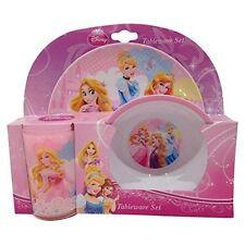 Disney Princesse - 3-Piece Ensemble De Dîner - Vaisselle / Assiette Bol verre