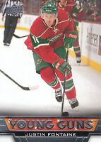 13/14 UPPER DECK YOUNG GUNS ROOKIE RC #232 JUSTIN FONTAINE WILD *27830