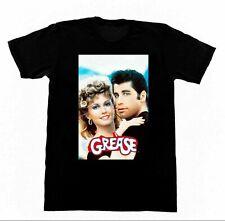 Grease Travolta Oliva Newton John Shirt 180  Black Tee Size S-2XL FREE SHIPPING