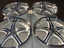 """18"""" White Wheels Rims 4 Lugs Accord Civic Miata Prelude Clubman Cooper Jetta"""