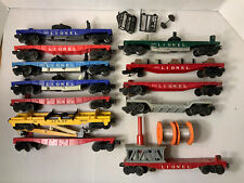 B66- Lionel O Scale Lot Of Mixed Flat Cars