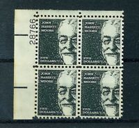 US Stamps Scott #1295 $5 Moore Plate Block EXT. FINE MNH - $20 Face Value (S72)