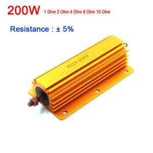 1ohm 2ohm 4ohm 8ohm 8R 200W Watt Power Metal Resistor 4 Tube Amp Test Dummy Load