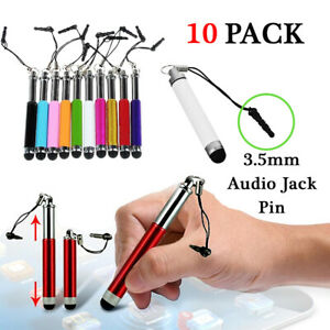 10X Universal Touch Screen RETRACTABLE Stylus Pen For Smartphone Tablet Samsung