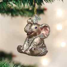 *Little Elephant* Africa Toy [12157] Old World Christmas Glass Ornament - NEW
