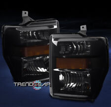2008-2010 FORD F250 F350 F450 F550 SUPER DUTY CRYSTAL HEADLIGHT LAMP BLACK/SMOKE