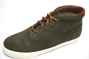 NEW Polo Ralph Lauren PONY ZALE Ash grey Oiled suede leather shoes 7 7.5 10