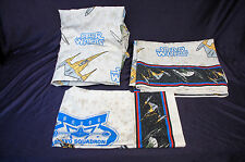Vintage Star Wars Naboo twin  Sheet  3 piece fitted flat  pillow case set