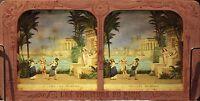 Aida La Verrat Opera Verdi Egitto Foto Diorama Stereo Vintage Albumina