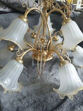 Stunning Brass Chandelier - Vintage / Antique Style - 9 Bulbs / Lights / Arms