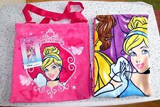 Disney Princess CINDERELLA Beach Towel & Tote 100% Cotton  Pink  New