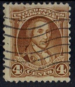 US 1932 Scott #709 George Washington at Princeton 4 Cents STAMP