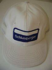 Schlumberger White Navy Trucker Hat Ball Cap Snapback Adjustable