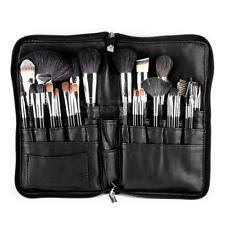 Pro 28 Pocket Cosmetic Makeup Brush Apron Bag Artist Belt Strap Holder Black