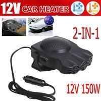 Portable 150W 12V Electric Car Heater Heating Fan Defogger Defroster Demister AU