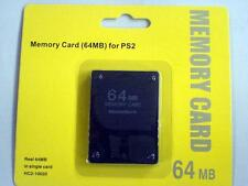 Playstation 2 64MB Memory Card - Sony PlayStation 2 PS2  US Seller With warranty