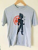 Dragonball Z Anime Goku Warrior Manga Retro Vintage Grey T-Shirt Tee Top Medium