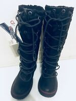Pajar Waterproof NWT Grip Tall Winter Boots US 5.5 Black Lace Up Duck Boot