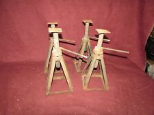 Vintage Industrial Automotive Mechanical Jack Stands Repurposed Steampunk Small